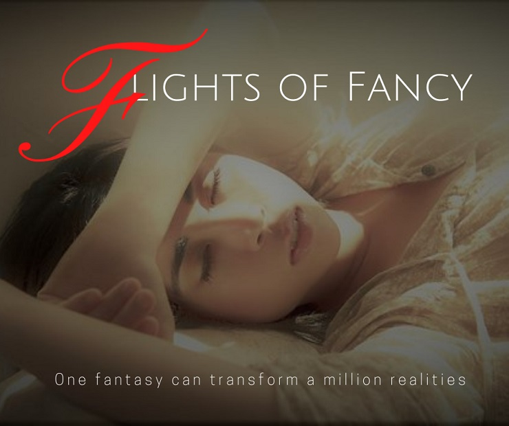 Pretty girl dreaming peacefully like in the best romance novels